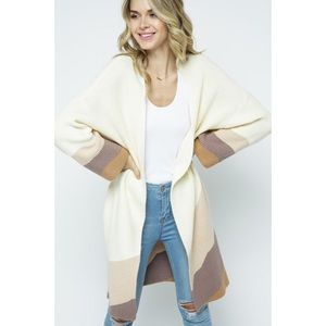 Keep Calm Pocketed knit Cardigan